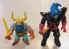 Vintage 1983 LJN Dungeons & Dragons Elkhorn Dwarf and Zarak Orc w/ Weapons!