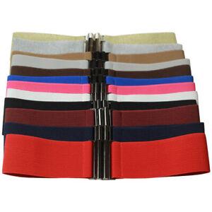 Womens Wide Elastic Waist Belt Stretch Cinch Belt Fashion Party Dress Waistband