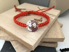 Personalised Photo Engraved 925 St Silver Handmade Bracelet Kids Woman Man ❤