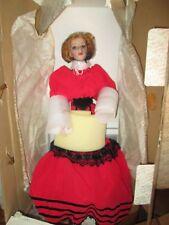 Franklin Heirloom Eleanor Coca Cola porcelain doll *NIB *COA * limited edition