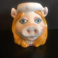 Vintage SIGMA Miss Piggy Mug Cup Ceramic Jim Henson Muppet Taste Setter 14oz