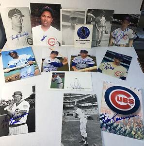 Lot of vintage Chicago Cubs autographed photos no coa's 4x6,5x7 lt2