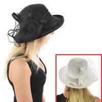 Ladies Women Evening Wedding Formal Funeral Melbourne Bucket Flower Fashion Hat