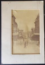 19th Century Albumen San Francisco Street Scene Washington Street 1882