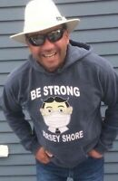 TILLIE BE STRONG!  JERSEY SHORE  HOODED SWEATSHIRT SHIRT ASBURY PARK NJ