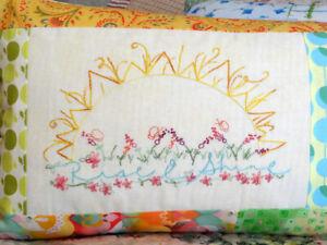 Sunshine Crescent Moon Hand Embroidery Pattern Set Bedroom Decor