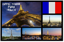 EIFFEL TOWER, PARIS FRANCE - SOUVENIR NOVELTY FRIDGE MAGNET - BRAND NEW - GIFT