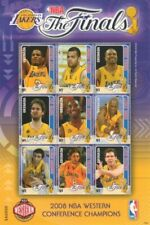 Grenada - 2008 - LA Lakers NBA - KOBE BRYANT - Champions - Sheet Of 9 - MNH