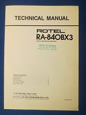 ROTEL RA-840BX3 TECHNICAL SERVICE MANUAL FACTORY ORIGINAL ISSUE THE REAL THING