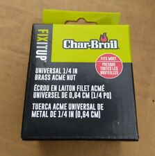 """Char-Broil Universal Fit LP Cylinder 1/4"""" BRASS Acme Coupling Nut, 5438384, NEW!"""