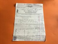 Dempster Moore & Co Glasgow 1881 India Rubber Steam Guages receipt   R36664