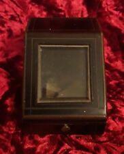 ancien boite coffret porte montre en bois napoleon III verre biseauté reliquaire