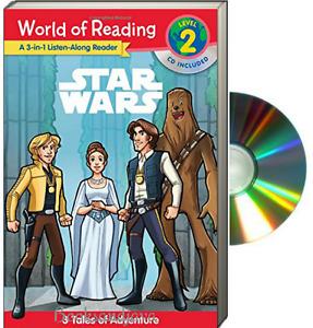 World of Reading Level 2 Listen Along Reader Star Wars 3 Adventure(Paperback/CD)