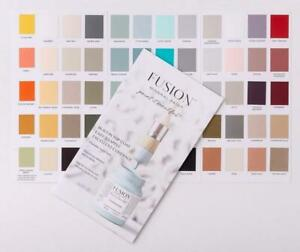 Fusion Mineral Paint Full Color Chart (w/ Real Paint Swatches)