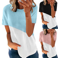 Summer Womens Loose Tops Shirt Blouse Ladies Casual Baggy Tee T-shirts Pullover