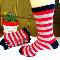 1Pairs Men's Pure Cotton Stripes Leisure Comfortable Socks 21*21cm  CH112