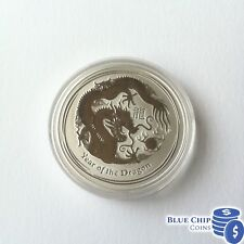 2012 $1 Year of the Dragon 1oz SILVER BULLION COIN IN CAPSULE