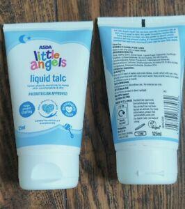 2 x Asda Little Angels Liquid Talc Baby / adults 125ml Chafing / chub rub