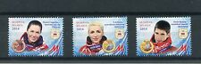 Belarus 2014 MNH Sochi Winter Olympics Medal Winners 3v Set Sports