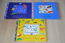 lot 3 livres pochette d'activité / un livre pour apprendre : ciel étoiles, mer..