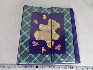 Sanrio Bear Plaid Tri-Fold Binder Notebook 1991