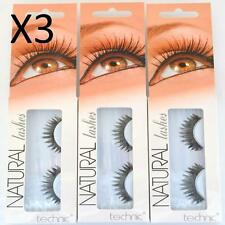 3 x Technic Natural Lashes A36 False Eyelashes With Adhesive