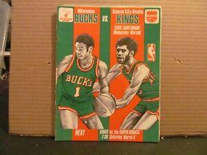 3-6 1974 NBA BASKETBALL GAME PROGRAM MILWAUKEE BUCKS @ KC OMAHA KINGS