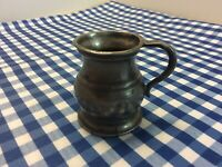 Vintage Pewter Half Gill Measure Withweights And Measure Stamp