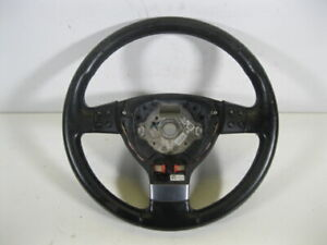 VW GOLF 5 DR HATCHBACK 2004-2009 LEATHER STEERING WHEEL WITH MULTIFUNCTIONS