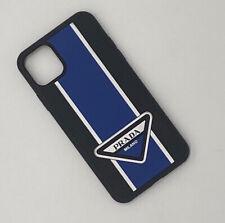 Prada Logo Graces Iphone 11 Hard Case, Blue, New In Box, RRP $219 USD