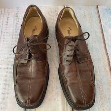 Studio Belvedere Mens Bay Bridge Oxfords Shoes Brown Split Toe Lace Up 9 D