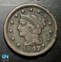 1847 Braided Hair Large Cent --  MAKE US AN OFFER!  #B2790