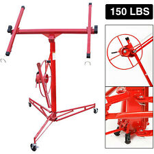 11ft Drywall Panel Hoist Dry Wall Rolling Caster Lifter Construction Tool Red �