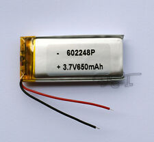 3.7V  650 mAh  Li-polymer rechargeable Battery Li-Po ion 602248 for mp3 mp4  GPS