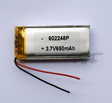 3.7V  650 mAh  Li-polymer rechargeable Battery Li-Po ion 602248 for mp3 mp4  GPS