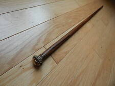 ANTIQUE VINTAGE GOLD FILLED 33 INCH LONG CANE WALKING/SWAGGER STICK SOME TARNISH