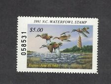 NC9 - North Carolina State Duck Stamp.  Single. MNH. OG.