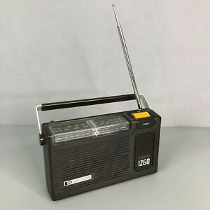 PYE 1260 SX1260 3 Band LW/MW/FM Vintage 1980s Battery Operated Portable Radio