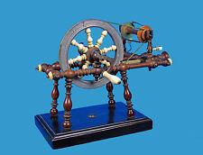 TischSpinnrad - SeidengarnWickler um/vor 1800 Holz-Bein-Horn-Zinn-Messing- Eisen