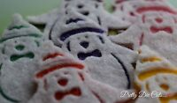 Felt Penguins. Pack of 3 Christmas Craft Embellishments