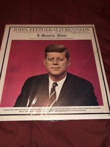 JOHN FITZGERALD KENNEDY, A Memorial Album LP, Vinyl Record, Vintage 1963