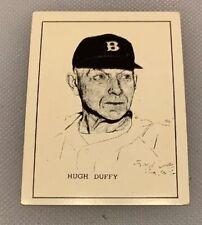 1950 Callahan HOF Hugh Duffy Baseball Hall of Fame Card Whos Who