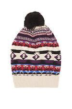 BNWT Topshop Aztec Fairisle Pom Detail Woolly Winter Hat. RRP £14