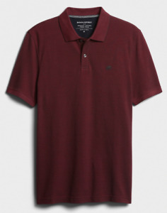 Banana Republic Men's Short Sleeve Solid Pique Polo Shirt S M L XL XXL