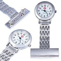 Stainless Steel Quartz Fob Watch Brand New Nurse Time Piece Watches Silver FREE
