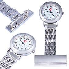 Silver Stainless Steel Quartz Fob Watch Brand New Nurse Time Piece WatcheV