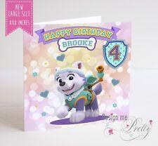 EXTRA Large PAW PATROL Everest cartolina di Compleanno Bambini Ragazzi Ragazze 8x8 pollici 1234567