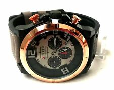 Men's Fashion Watch with Date Dial M8787 Gray Leather Band Water Resistant 1 ATM