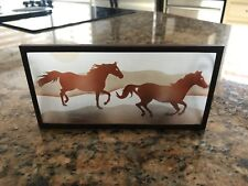 Horse Decor Candle Metal Photo
