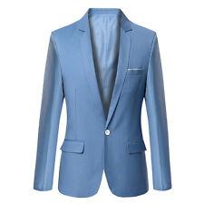 Stylish Men's Casual Slim Fit Formal One Button Suit Blazer Coat Jacket Tops